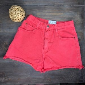 Vintage Hot Pink High Rise Cut Off Jean Shorts
